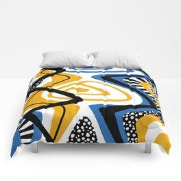 Blue & Yellow Craze Comforters