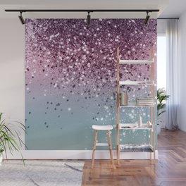 Unicorn Girls Glitter #6 #shiny #pastel #decor #art #society6 Wall Mural