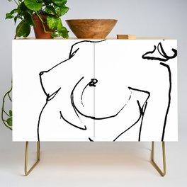 Nude drawing Credenza