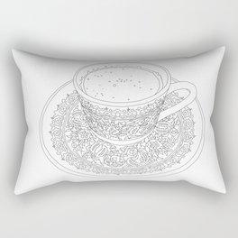 Tukish Coffee Line Art Rectangular Pillow