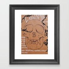 Monkey Skull Framed Art Print