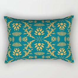Thistles on Teal Rectangular Pillow