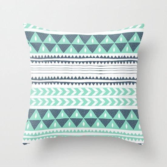 Winter Stripe Throw Pillow