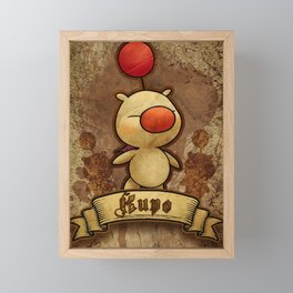 Kupo - Moogle Framed Mini Art Print