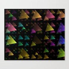 Drifting Triangles Canvas Print