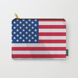 Waving US Flag Carry-All Pouch