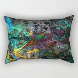 abstract waves multicolored Rectangular Pillow