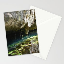Dos Ojos Cenote Mexico Reserva Natural Lily Pads Pool Jungle Mayan Sacred Swimming Stationery Cards