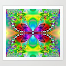 Abstract Jewel Butterfly  Art Print