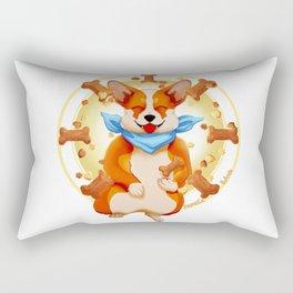 Zen corgi Rectangular Pillow