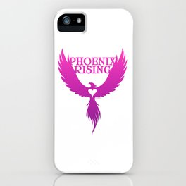 PHOENIX RISING purple with heart center iPhone Case
