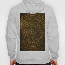Lime Brown Boho Mandala || Manafold Art Hoody