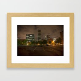 Parking in the Night Light Framed Art Print