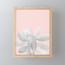 White Blush Cacti Vibes #1 #plant #decor #art #society6 Framed Mini Art Print