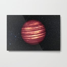 NASA space telescopes see weather patterns in Brown Dwarf Metal Print