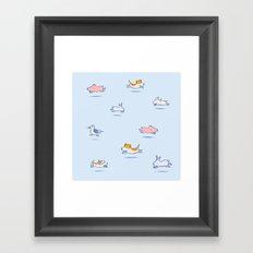 Run Run Run doggy! Framed Art Print