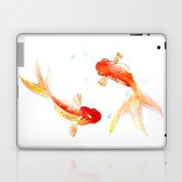 Goldfish, Two Koi Fish, Feng Shui, yoga Asian meditation design Laptop & iPad Skin
