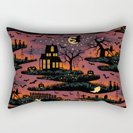 Halloween Night - Bonfire Glow Rectangular Pillow