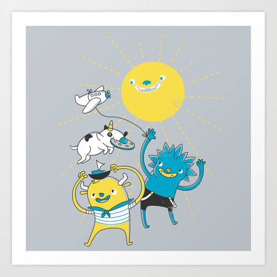 It's a nice day to play! Art Print