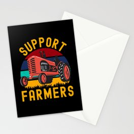 Support Farmers  Tractor Stationery Cards