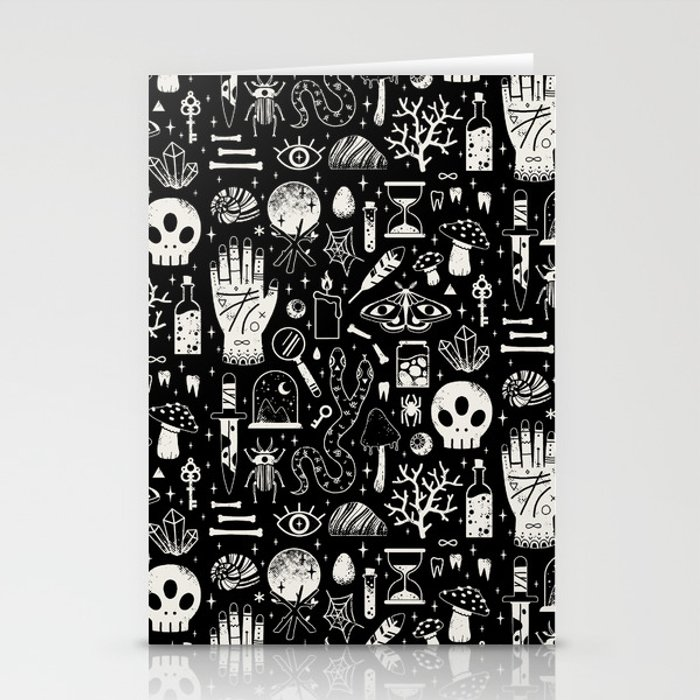 Curiosities: Bone Black Stationery Cards