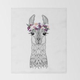 FLOWER GIRL ALPACA Throw Blanket