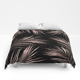 Rose Gold Palm Leaves 2 Comforters