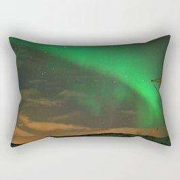 Northern Lights over Norway: Part 2 Rectangular Pillow