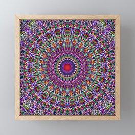Vivid Lace Ornament Mandala Framed Mini Art Print
