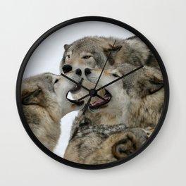 Shouting Match Wall Clock