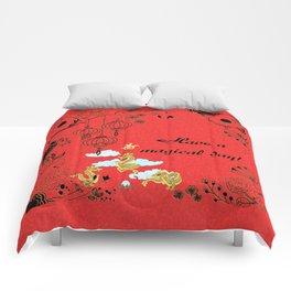 Chinese Dragon Trio Comforters