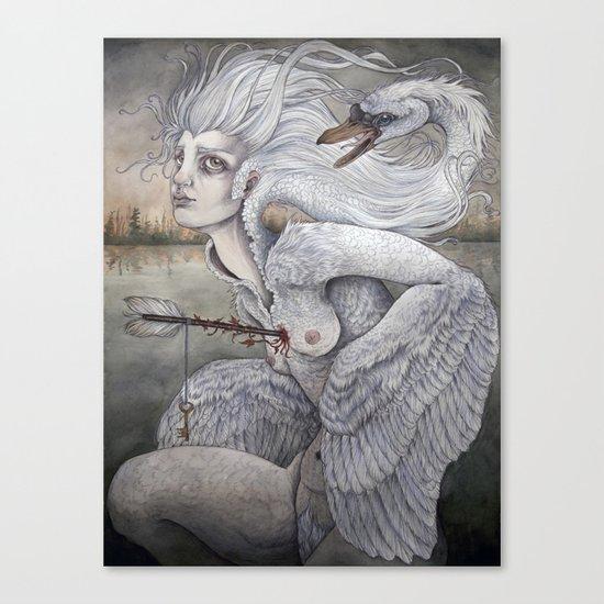 the swan maiden Canvas Print