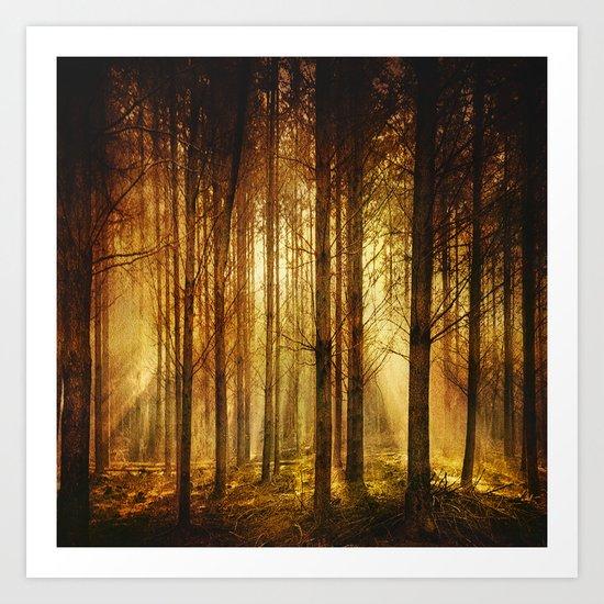 Golden Nature. Art Print