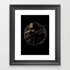 Undercover Ninja Raph Framed Art Print