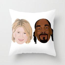 Snoop Dogg and Martha Throw Pillow