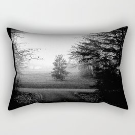 Black and White Woods Rectangular Pillow