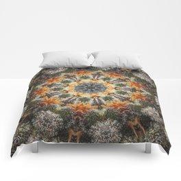 Trichomes Tangerine Comforters