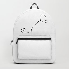 Scorpio Star Sign Black & White Backpack