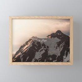 Stay High - Mt Shuksan Framed Mini Art Print