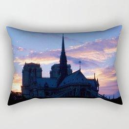 Cathédrale Notre Dame de Paris at Sunset Rectangular Pillow
