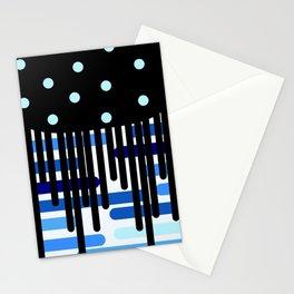 Black universe overflow Stationery Cards