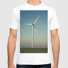 Windmills in the Sun Mens Fitted Tee White MEDIUM