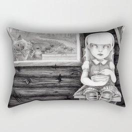 """The Porridge Thief"" (Goldilocks) Rectangular Pillow"