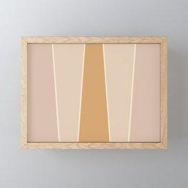 Hazelnut Color Block Framed Mini Art Print
