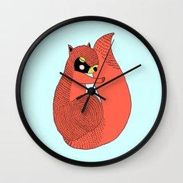 Sleeping Squirrel  Wall Clock