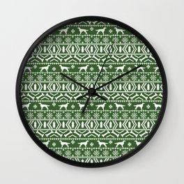 Irish Setter fair isle christmas green and white holiday sweater gifts dog breed Wall Clock