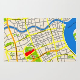Shanghai Map Design Rug