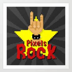 Pixels Rock Art Print