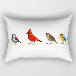 Little birds. Spring. Rectangular Pillow