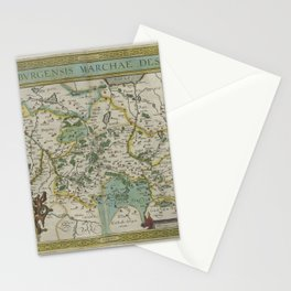 Vintage Map - Ortelius: Theatrum Orbis Terrarum (1606) - Brandenburg, Germany Stationery Cards
